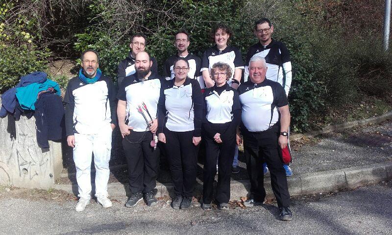 Les archers valentinois au championnat départemental salle