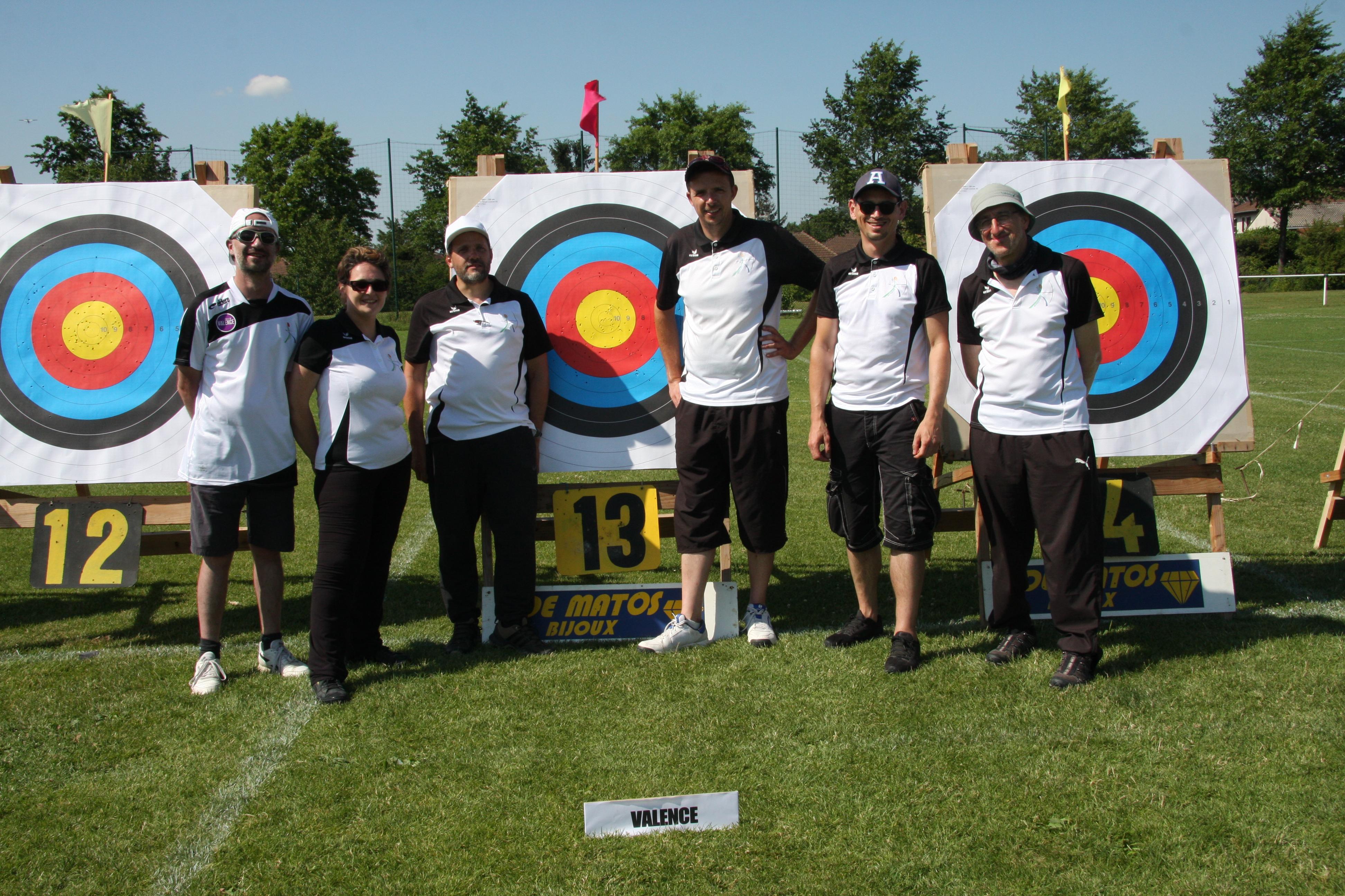 Les Archers lors de la finale du Challenge régionale par équipe mixte 2018